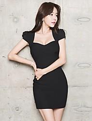 2017 new summer dress Slim sexy black low-cut package hip nightclub ladies temperament OL