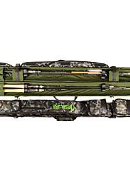 AFISHLURE®New Design Double open Fishing Rod Tube Lure Rod Bag 1.45MBlack/Camouflage 145cmx10cmx10cm