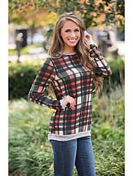амазонки модели Aliexpress торговый взрыв 2016 года новых женщин&# 39, S плед с длинным рукавом свитера