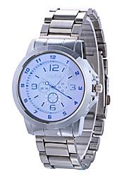Fashion Watch Quartz Alloy Band Silver