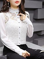 modelo de tiro real nova primavera rendas camisa de chiffon provedor de vídeo pequeno