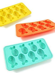 Cartoon Fish Ice Mould Silicone Ice Cubes Tray Pudding Jelly Mold Random Color