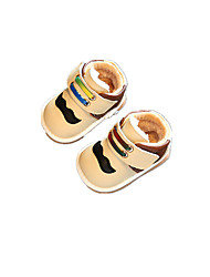 Baby Flats Comfort Leatherette Winter Casual Outdoor Walking Comfort Magic Tape Low Heel Beige Yellow Blue Flat