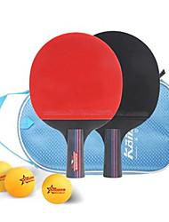 Ping Pang/Table Tennis Rackets Ping Pang Wood Short Handle Pimples 2 Rackets 1 Table Tennis Bag 3 Balls