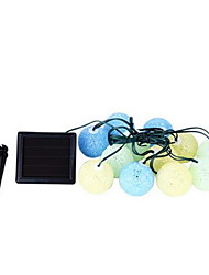 12 Balls of Solar Energy Colorful Ball Strings