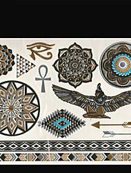 Séries de Jóias/Séries Totem/Outros - Brand New - Tatuagem Adesiva - Non Toxic/Tribal/Lombar/Waterproof - para