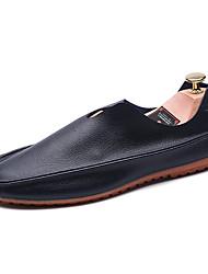 Men's Loafers & Slip-Ons Spring / Fall Comfort Casual Flat Heel Slip-on Black / Blue/ Orange / Brown