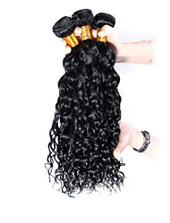 3pcs Brazilian Hair Bundles Weaves Jet Black Curly Weft 100% Unprocessed Brazilian Human Hair Weft