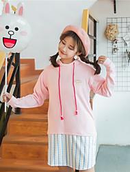 определить реальный выстрел весной новых девушек розовый чувство вышивка пончиков и длинные участки балахон вэй платье