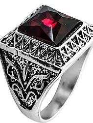 Ringe Alltag Normal Schmuck Krystall Aleación Ring 1 Stück,8 9 10 11 Rot