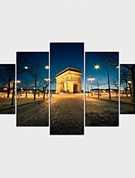 Stretched Canvas Print Animal Style Modern,Five Panels Canvas Any Shape Print Wall Decor For Home Decoration