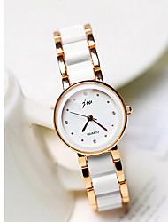 Mulheres Relógio de Moda Quartzo Lega Banda Casual Dourada