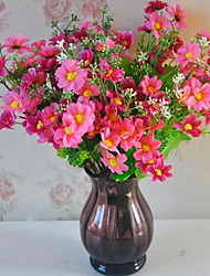 1 Branch Plastic Others Tabletop Flower Artificial Flowers Jump Chrysanthemum