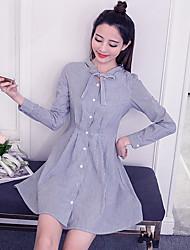 подписать весной 2017 новых корейских женщин&# 39, S мода была тонкой полосой платье