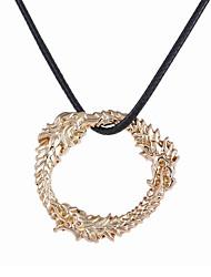 Pendentif de collier Bijoux Forme de Cercle Alliage Original Pendant Style Punk Hip-Hop Or Bijoux Pour Occasion spéciale Halloween 1pc