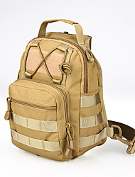 15 L Sling & Messenger Bag Camping & Hiking Hunting Outdoor Dust Proof Wearable Multifunctional Light Yellow Nylon canis latrans