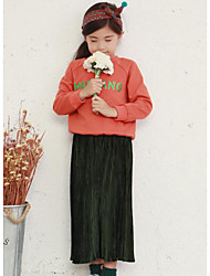 Girl Casual/Daily Plaid Pants-Cotton Spring