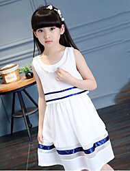 Girl's Beach Dress,Cotton Rayon Summer Sleeveless