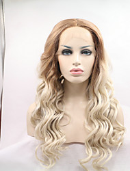 Sylvia Synthetic Lace Front Wig Auburn To Blonde Natural Wave Heat Resistant Synthetic Wigs