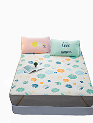Yuxin®Large Flower Ice Silk Linen Summer Mats Summer Air Conditioning Mats  Ice Mats*1 Pillowcase*2  Bedding Set
