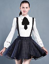 Trägerkleid Frühjahr 2017 Frühjahr neue Mädchen kleiden langen Rock grundiert Chiffon eine Strapsen Art