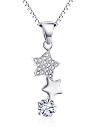 Pendants Sterling Silver Simulated Diamond Basic Design Silver Jewelry Daily Casual 1pc