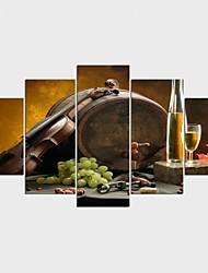 Stretched Canvas Print Landscape Still Life Style Modern,Five Panels Canvas Any Shape Print Wall Decor For Home Decoration