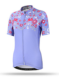 XINTOWN® Ono chrysanthemum Womens Cycling Jersey Mountain Bike Kit Riding Short Sleeve Shirts Sweat Releasing Fast Drying