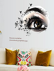 Cartoon Beautiful Eyes Wall Sticker Vinyl Material Home Decoration