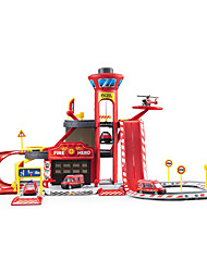 Ambulance Vehicle Fire Engine Vehicle Parking Garage Toy Sets Car Toys 1:64 ABS Plastic Red Model & Building Toy