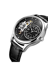 MEGIR Masculino Relógio de Moda Relógio de Pulso Quartzo Couro Banda Legal Preta Marrom Branco Preto Branco/Marrom