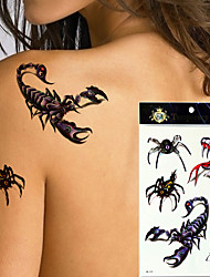 5 Tatuagens Adesivas Séries Animal Séries Totem Outros não tóxica Á Prova d'águaFeminino Masculino Adolescente Tatuagem AdesivaTatuagens