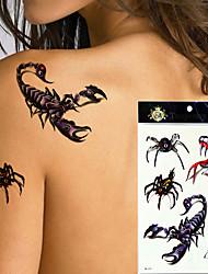 5Pcs/Lot  Scorpion  Design Large Arm Tattoo Sleeve Flash Temporary Tattoo Sticker Waterproof Henna Tatoo Women Body Art