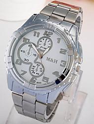 Relógio de Moda Quartzo Lega Banda Prata