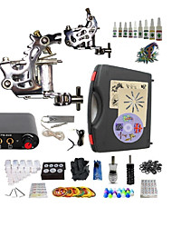 Complete Tattoo Kit S023G2A4A11 2 Machines Liner & Shader Mini Power Supply Ink Cups