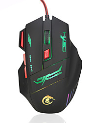 HXSJ brand High-end optical professional gaming mouse with 7 bright colors LED backlit and ergonomics design for comfortable touch,