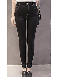 Sign spot diamond pattern ultra elastic jeans spring new Korean yards elastic waist leggings