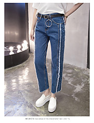 Sign Free Belt 2017 spring Korean version of the flash straight skinny jeans female harem pants