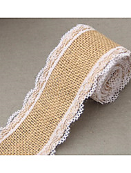 Length 2m Width 5cm Jute Burlap Rolls Hessian Ribbon With Lace Rustic Vintage Wedding Decoration Supplies Diy Ornament Burlap Wedding