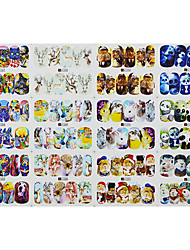 1pcs 12design Hot Lovely Animal Nail Art Full Cover Sticker Water Transfer Decals Nail Art Design A1285-1296