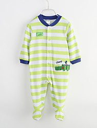 Baby Casual/Daily Striped Print One-Pieces,Cotton Spring Fall Long Sleeve