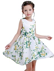 Girl's Cotton Fashion Sleeveless primrose Printed sweet princess dress