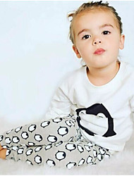 Baby Fashionable And Lovely Cotton Color Matching Penguins Pants Two-Piece Outfit