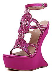 High Heels-Kleid-PU-Plateau-Club-Schuhe-Schwarz Rosa Lila