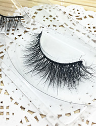 Eyelashes 3D mink Full Strip Lashes Eyes Thick Lifted lashes  Handmade Animal wool eyelash Black Band  M02