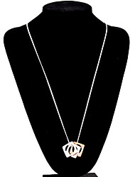 Femme Pendentif de collier Bijoux Chaîne unique Gemme Résine Alliage Pendant Naturel Personnalisé euroaméricains Mode Européen Rose Bijoux