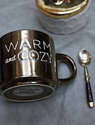Nouveautés Articles pour boire, 400 ml Sans BPA Porcelaine à la Cendre d'Os Tissu Café Lait Mugs à Café Mugs de Voyage