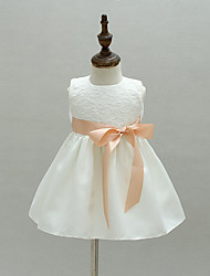 Baby Party/Cocktail Floral DressPolyester All Seasons White(give belt)