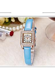 Women's Fashion Watch Simulated Diamond Watch Quartz Leather Band Casual Black White Blue Red Grey Purple