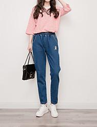 Studenten bf lose Frühling und Sommer beiläufige dünne wilde Pluderhosen neun Punkte Jeans weibliche elastische Taille